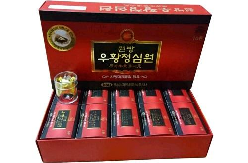 Hộp An cung ngưu hoàng hoàn Hàn Quốc IKSU đỏ sang trọng