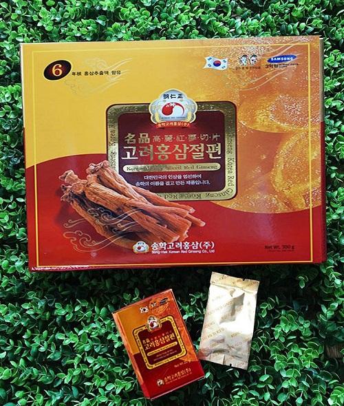 Tác dụng của sâm cắt lát ngâm mật ong Songhak