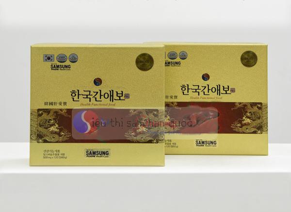 120 Viên bổ gan AEBO hàn quốc bảo vệ lá gan của bạn và người thân