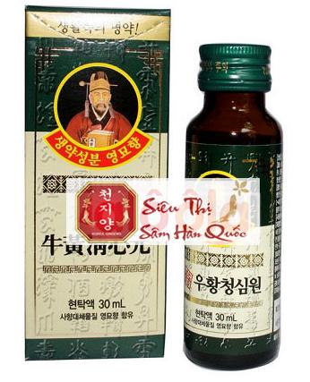 An Cung Ngưu Hoàng Hoàn Hàn Quốc dạng nước chất lượng