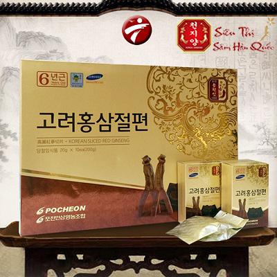 Review Hồng sâm lát tẩm mật ong Pocheon Hàn Quốc tiện dụng để bảo vệ sức khỏe