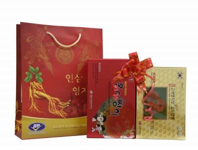 30 gói Hồng sâm baby– 120 viên linh chi quà tặng hàn quốc
