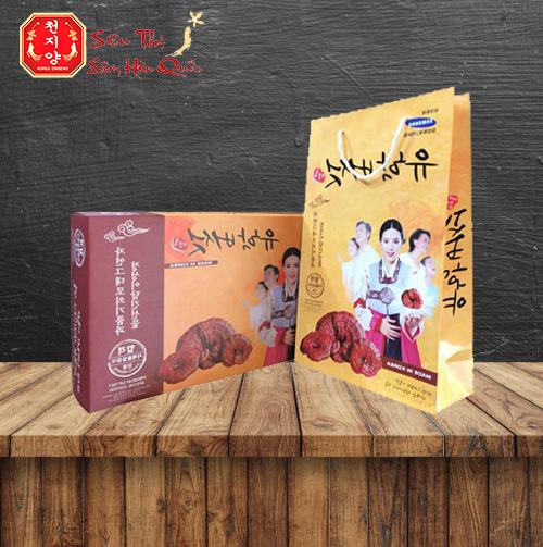 Review Nấm Linh Chi Đỏ Núi Đá Hàn Quốc 1kg Làm Hộp Quà Biếu Cao Cấp