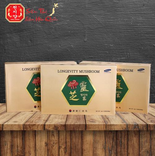Review Trà Linh Chi Longevity Mushroom TPCN Giải Độc Gan Của Hàn Quốc