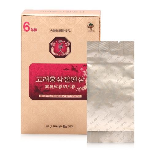 hồng sâm tẩm mật ong Korean Sliced Red Ginseng có tốt không