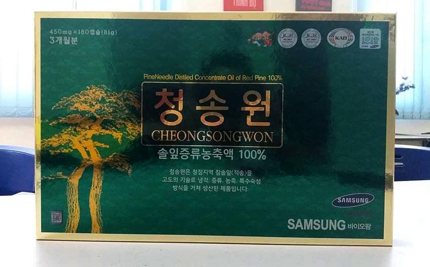 viên tinh dầu thông cheongsongwon hàn quốc