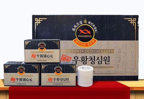 Uống viên an cung ngưu hoàng Hàn Quốc Kwangdong hộp xanh đúng cách