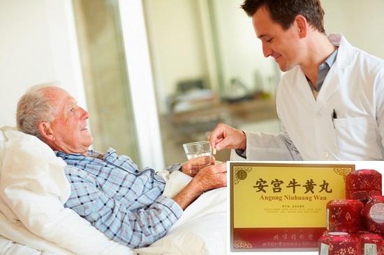 Uống an cung ngưu hoàng hoàn Trung Quốc hộp 10 viên