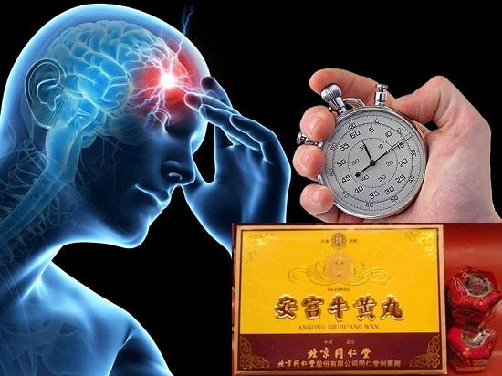 An cung ngưu hoàng Trung Quốc hộp vàng 10 viên phòng đột quỵ