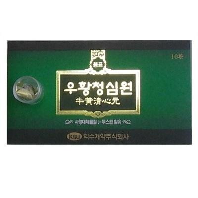 Viên an cung ngưu hoàng Hàn Quốc IKSU hộp xanh lá 10 viên
