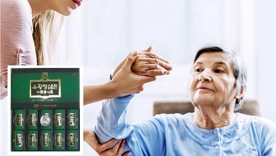 Viên an cung ngưu hoàng Hàn Quốc IKSU hộp xanh lá trị đột quỵ