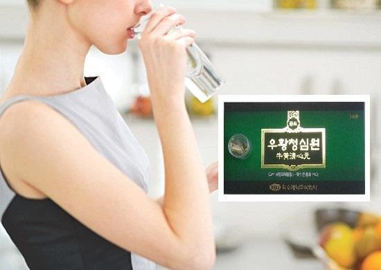 Dùng viên an cung ngưu hoàng Hàn Quốc IKSU hộp xanh lá 10 viên hiệu quả