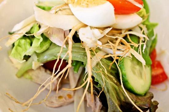 cách chế biến salad sâm tươi
