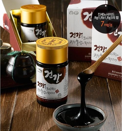 cao hồng sâm hàn quốc là nguyên liệu pha trà sâm