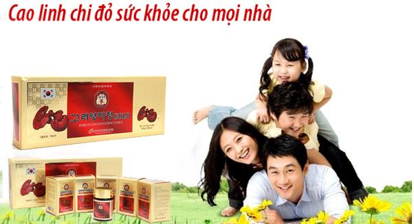 cao linh chi sản phẩm bồi bổ sức khỏe cho cả nhà