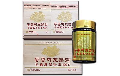 Bột đông trùng hạ thảo Hàn Quốc lọ 90g bổ sung dưỡng chất