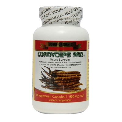 Đông trùng hạ thảo Cordyceps 950 của Mỹ hộp 90 viên bồi bổ