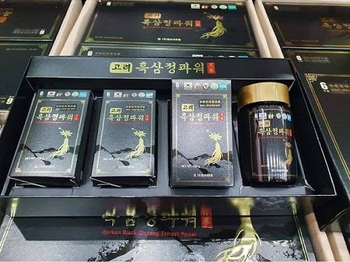 korean black ginseng extract power được chứng nhận an toàn cho sức khỏe