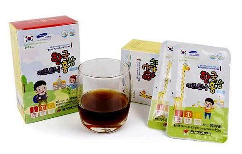 Korean Red Ginseng Junior 6-13 year dạng nước đóng gói nhỏ tiện dụng