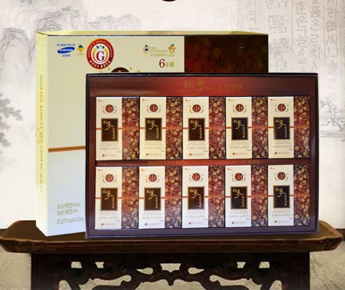 Hồng sâm lát tẩm mật ong Daedong 20g x10 hộp