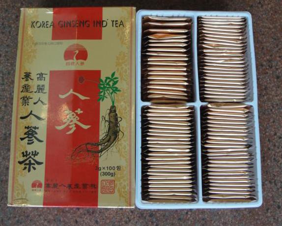 trà hồng sâm con cò hàn quốc