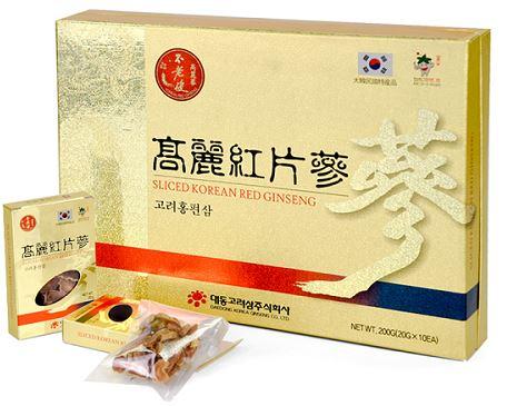 Hồng sâm củ khô thái lát Daedong cao cấp 200gr