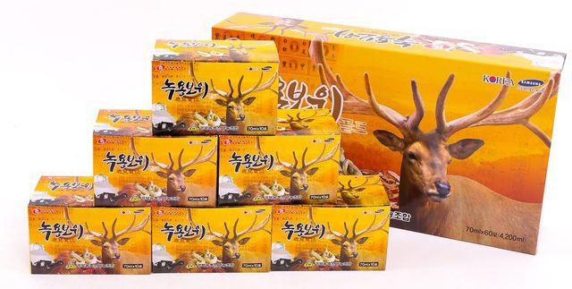 Nước hồng sâm nhung hươu Hàn Quốc 70ml hộp 60 gói