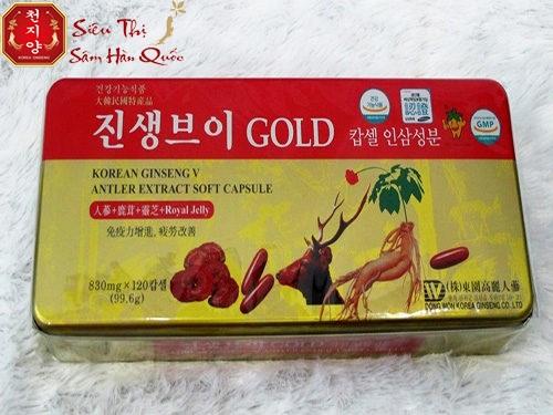viên sâm nhung linh chi hàn quốc gold dongwong