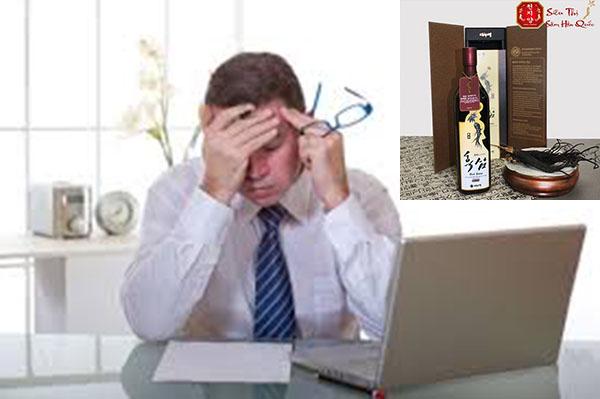 làm việc căng thẳng nên uống hắc sâm danurim