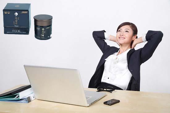 giảm căng thẳng mệt mỏi nhờ cao hắc sâm daedong