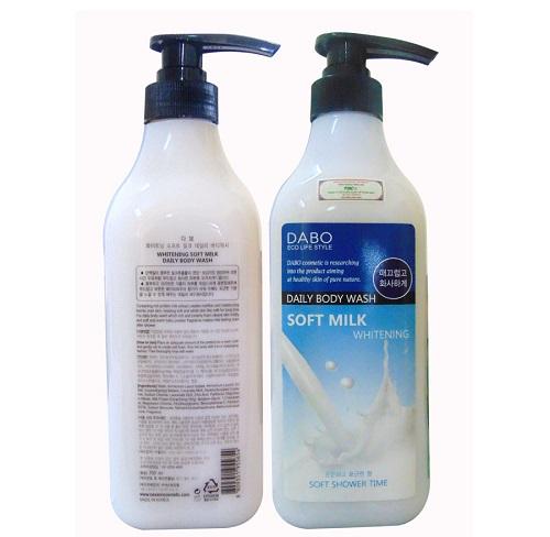 Sữa tắm trắng da Dabo Whitening Soft Milk 750ml Hàn Quốc