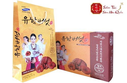 Nấm linh chi núi đá Hàn Quốc loại cao cấp thích hợp làm quà biếu