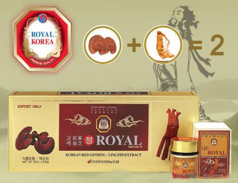 Tác dụng của cao hồng sâm linh chi Royal