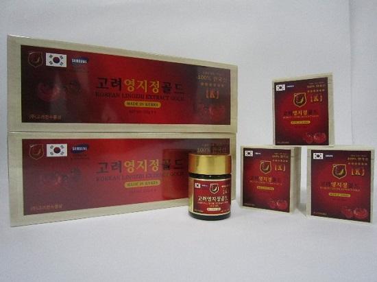 Cao linh chi đỏ hộp gỗ 400g Hàn Quốc