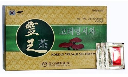Trà linh chi Hàn Quốc hộp giấy