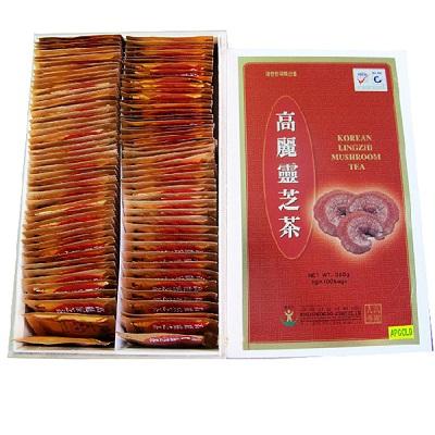 Trà linh chi Hàn Quốc hộp gỗ 100 gói giúp thanh lọc cơ thể