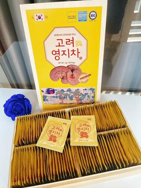 korean linhzhi tea - thức uống giải khát tốt cho sức khỏe người dùng
