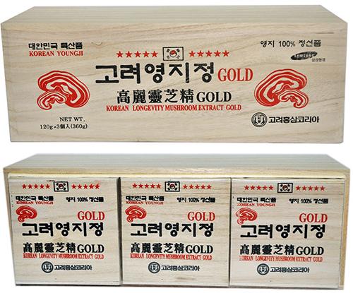Cao linh chi Gold hộp gỗ Hàn Quốc màu trắng
