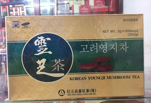 korean youngji mushroom tea