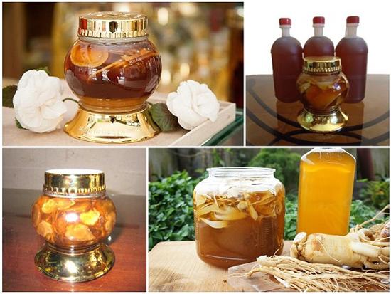 sâm khô ngâm mật ong bảo vệ sức khỏe