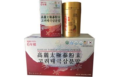 Bột hồng sâm Hàn Quốc Dongil hộp 3 lọ tăng cường sinh lực
