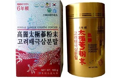 Bột hồng sâm Hàn Quốc Dongil lọ 100g bổ sung dưỡng chất