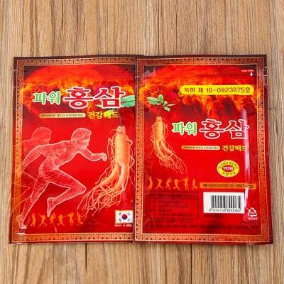 Cao dán hồng sâm Hàn Quốc chống nhức mỏi hiệu quả - Gói đỏ