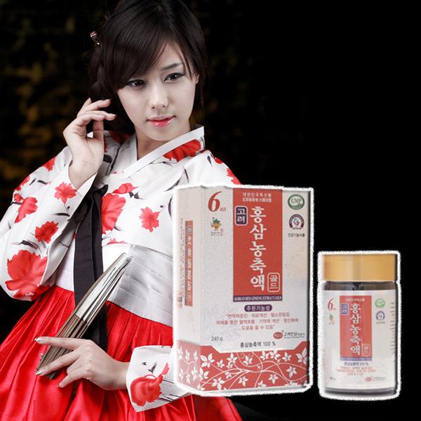Cao hồng sâm Kgs giúp làm sáng và đẹp da cho phụ nữ