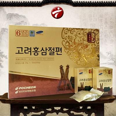 Hồng sâm lát tẩm mật ong Hàn Quốc Pocheon 200g chất lượng