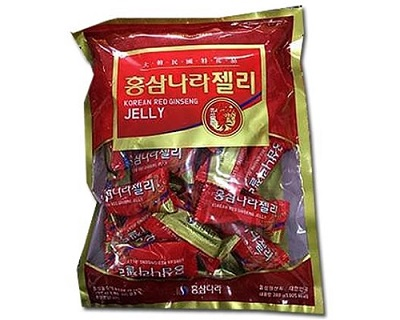 Kẹo dẻo hồng sâm Nara KGS túi 280g cho sức sống tràn đầy