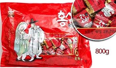Kẹo hồng sâm ông già bà lão gói 800g bổ dưỡng thơm ngon