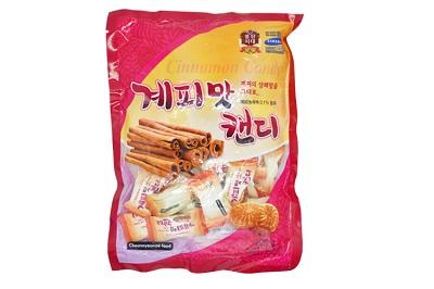 Kẹo quế Hàn Quốc túi 200g bổ dưỡng giảm căng thẳng mệt mỏi