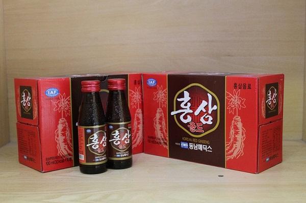Nước nhân sâm Hàn Quốc hộp 10 chai