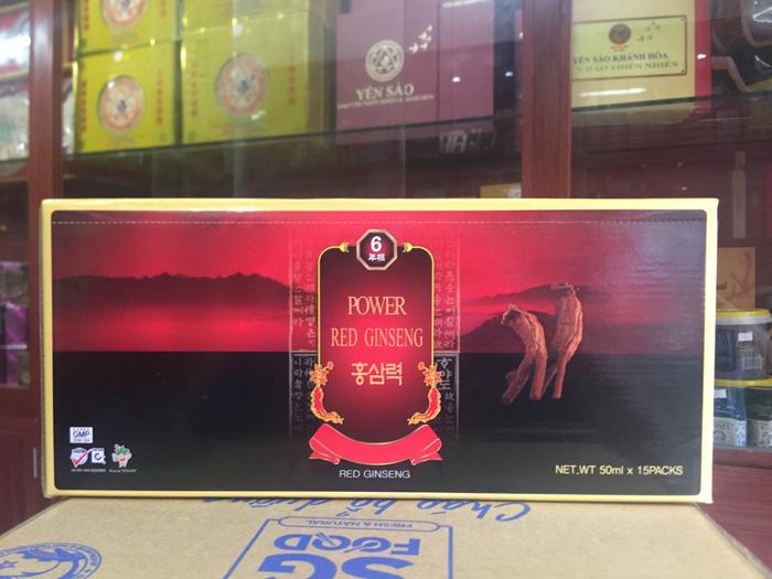 Nước tăng lực hồng sâm Hàn Quốc hộp 15 gói